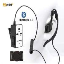 Zello Bluetooth PTT Headset with Finger PTT Remote by Sanzuco, Compatible with Android System, Suitable for Training and Outdoor Activities