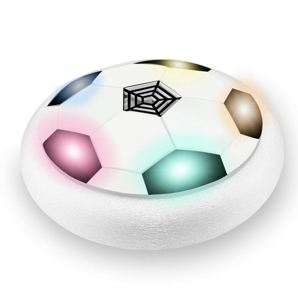 Kimy Air Power Soccer Ball for 3-12 Year Old Boys, Air Power Soccer Ball Boys Toys Age 3-12 Toys for 3-12 Year Old Boys Gifts Boys Age 3-12 Easter White(No Gate) KMUSFB02