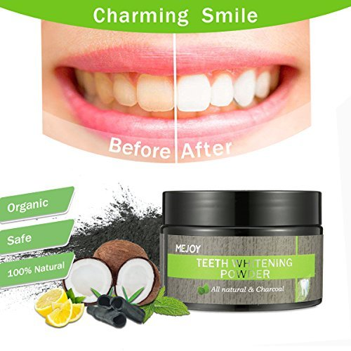 Charcoal Teeth Whitening Powder, LuckyFine Natural Coconut Activated Charcoal Bamboo Toothpaste, Tooth Whitening Powder