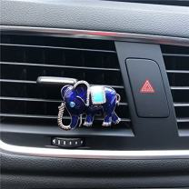 FOLCONROAD Auto Diamond Elephant Car Air Conditioning Outlet Clip Decorative (Blue)[US Warehouse] Christmas Gifts