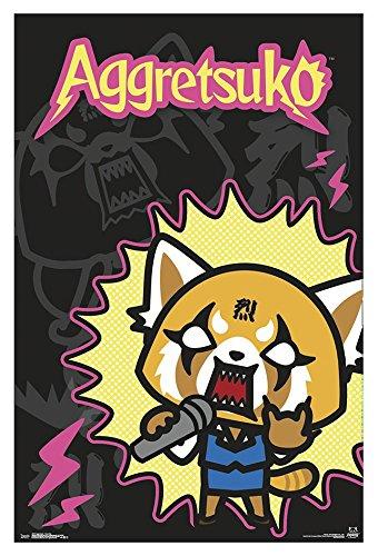 "Trends International Aggretsuko-Rock Out, 22.375"" x 34"", Premium Unframed"