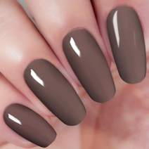 2 In 1 Dip Acrylic Powder Dark Gray 1 Ounce I.B.N Dipping Powder (Added Vitamin and Calcium) No Need Nail Lamp Dryer (45)