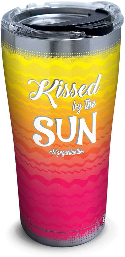 Tervis 1319381 Margaritaville - Kissed By Sun Stainless Steel Insulated Tumbler with Lid, 20 oz, Silver