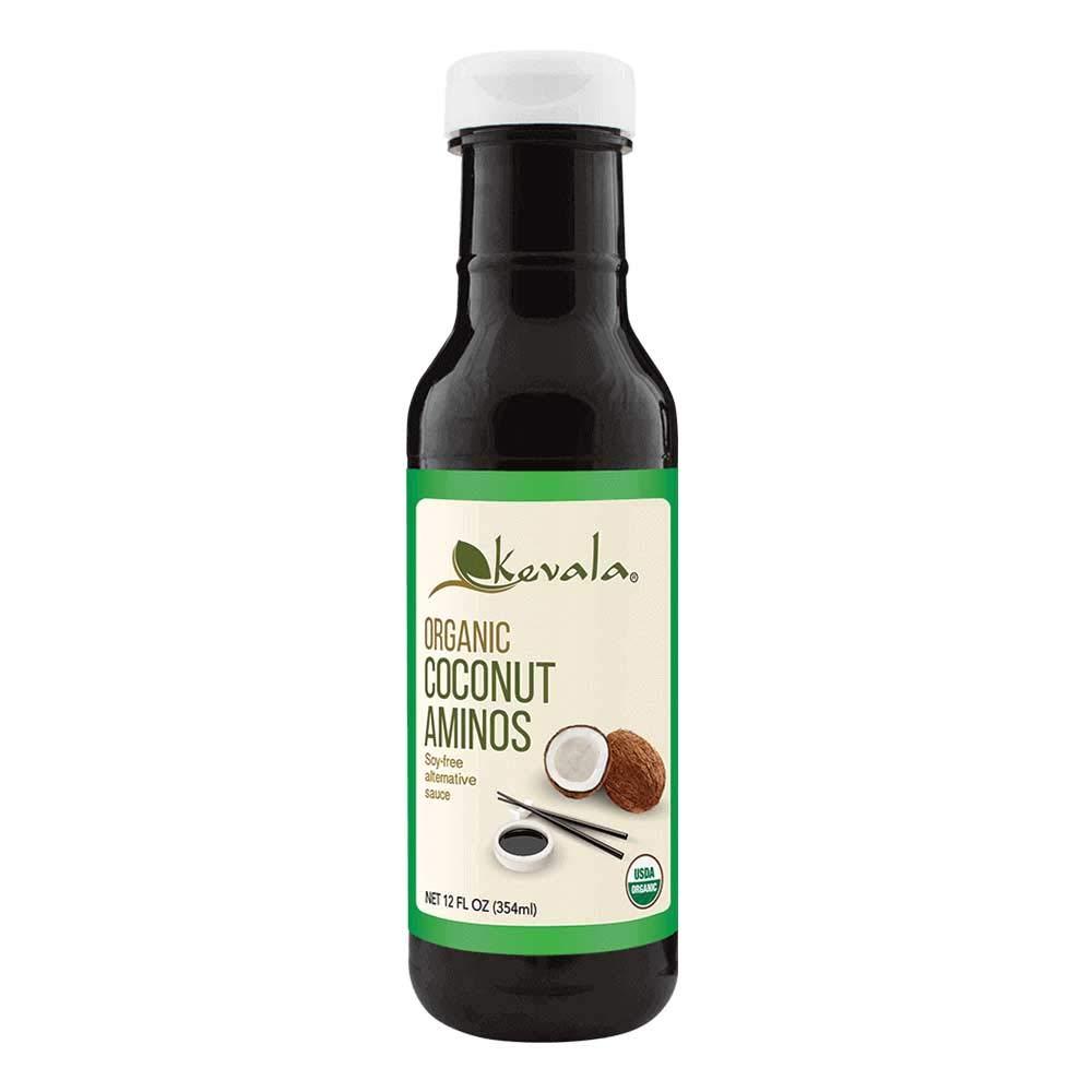 Kevala Organic Coconut Aminos 12 oz (BPA-free plastic bottle)
