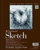 """Strathmore 455-11 400 Series Sketch Pad, 11""""x14"""" Wire Bound, 50 Sheets"""