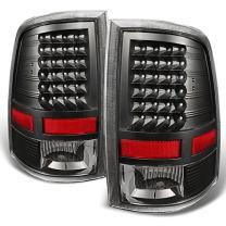 For Black 2009-2018 Dodge Ram 1500 2010-2018 Ram 2500 3500 Pickup Truck LED Tail Lights Brake Lamp Replacement