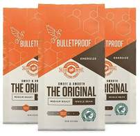 Bulletproof The Original Whole Bean Coffee, Single-Origin, Rainforest Alliance Certified, Premium Medium Roast Clean Organic Beans, Keto and Paleo friendly, Bundled 3-Pack and Save! (3-pack Whole Bean)