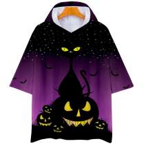 Dauocie Halloween Costumes Shirts Oversized Hooded Graphic Cloak Cape Party Tops