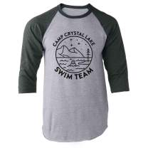 Camp Crystal Lake Counselor Horror Movie Vintage Raglan Baseball Tee Shirt