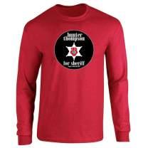 Hunter S Thompson for Sheriff Books Funny Costume Full Long Sleeve Tee T-Shirt