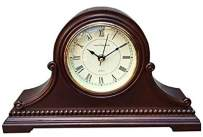 """Vmarketingsite Mantel Clocks, Battery Operated, Silent Wood Mantle Clock with Westminster Chimes On The Hour, Solid Wooden Shelf Decorative Chiming Table Clock, 9"""" x 16"""" x 3"""""""