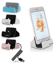 iPhone Charging Dock Station, AGOZ Charger Dock Compatible with Apple iPhone SE 2020, iPhone 11, 11 Pro MAX, XS Max, XS, XR, iPhone 8 Plus,8, iPhone X,iPhone 7/7 Plus 6 6S Plus 5 5S,iPad Mini (Silver)