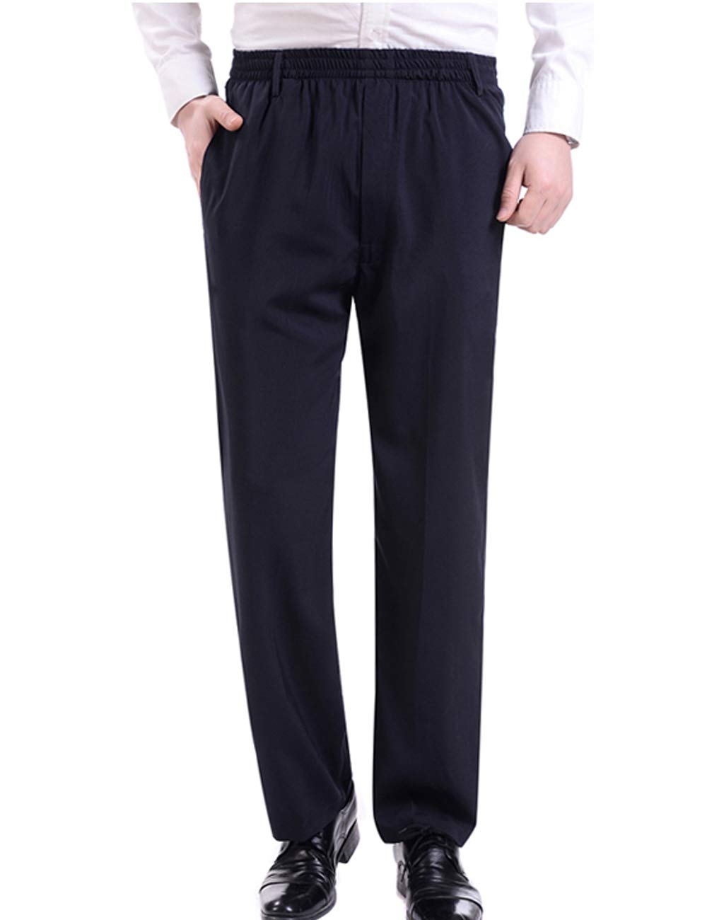 Zoulee Men's Summer Casual Zipper Fly Closure Jogger Sweatpants Quick-Drying Pants