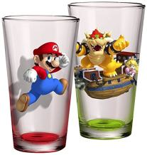 JUST FUNKY SM-GS2-10397-Jfc Super Mario Pint Glass Set