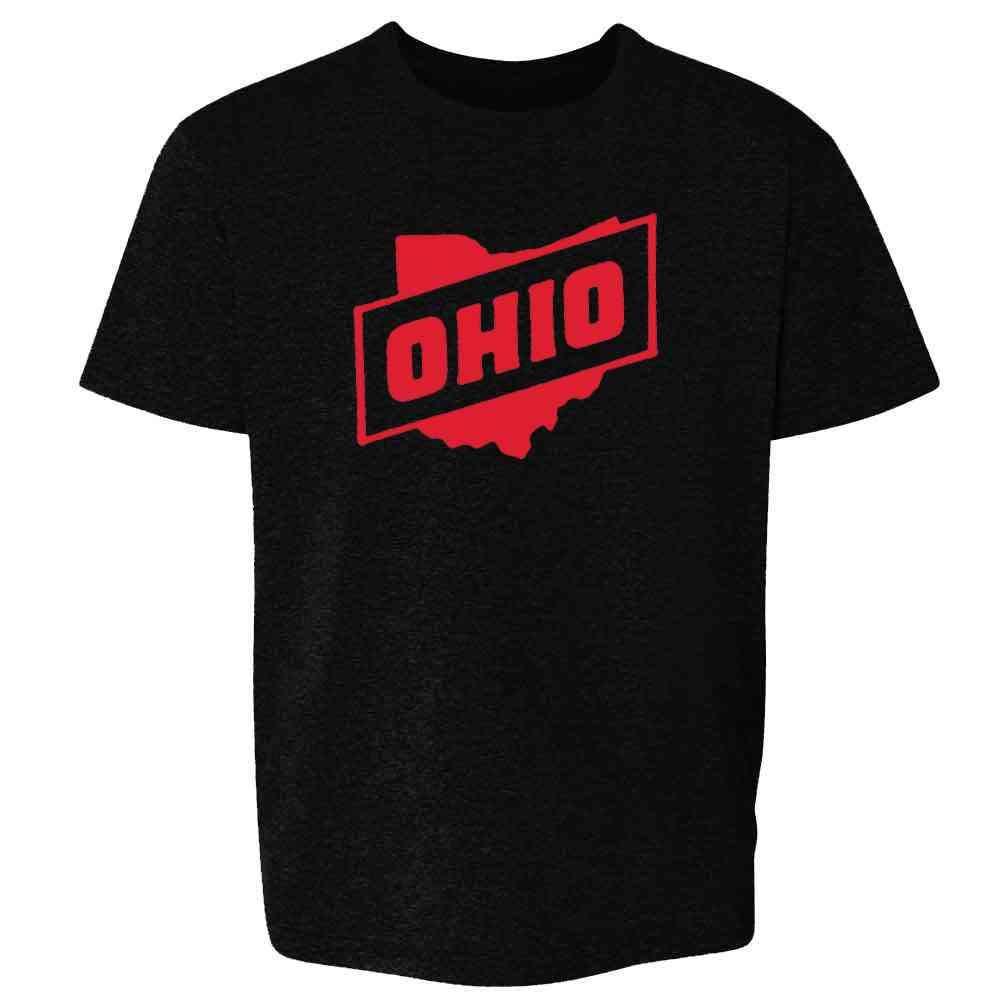 Ohio Retro Vintage State Travel Toddler Kids Girl Boy T-Shirt