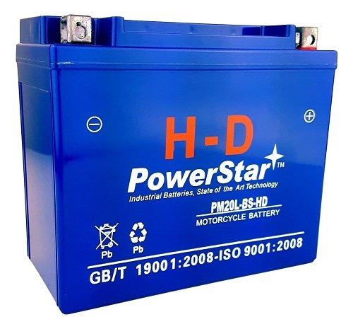 PowerStar-H-D YTX20L-BS Battery for BRP (Can-Am) Outlander 800 EFI, Renegade 800CC 06-'09