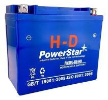 New Harley Davidson Motorcycle Replacement PowerStarH-D Battery, 3 Year Warranty