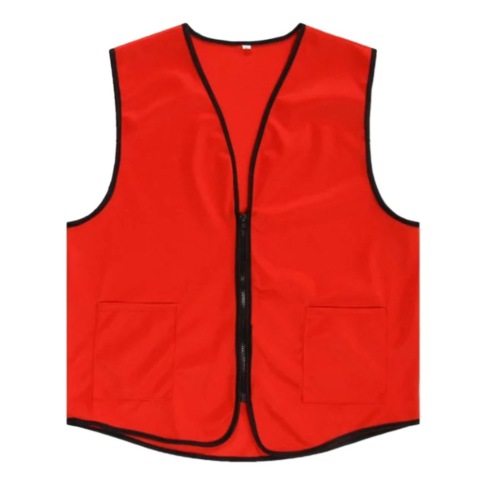 TOPTIE Supermarket Vest/Apron Zipper Vest for Clerk Uniform Vest
