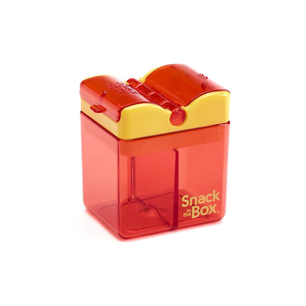 Precidio Design 1001OR Snack in the Box NEW Little Finger-Friendly Eco-Friendly Reusable Snack Box Container (Orange)