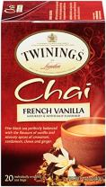 Twinings of London French Vanilla Black Chai Tea, 20 Count (Pack of 6)
