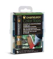 Chameleon Art Products, Nature Tones, Color Tops, Quick and Easy Blending - Set of 5