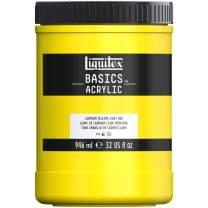 Liquitex BASICS Acrylic Paint, 32-oz jar, Cadmium Yellow Light Hue