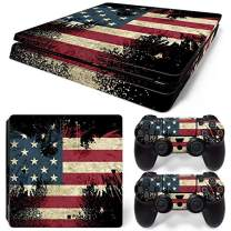 SKINOWN Skin Set Vinyl Decal Sticker for Playstation 4 Slim Console Dualshock 2 Controllers