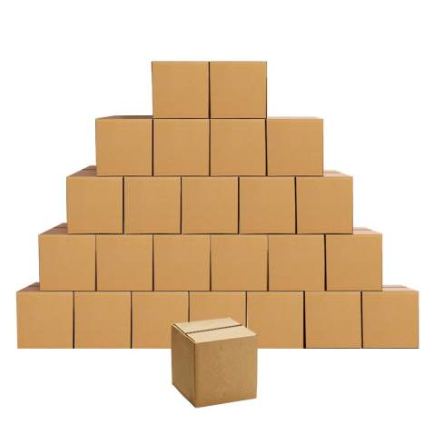 EdenseeLake Shipping Boxes Small 4 x 4 x 4 inches Cardboard Boxes, 25 Pack