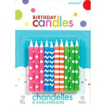 Neon Birthday Candles | Party Supply