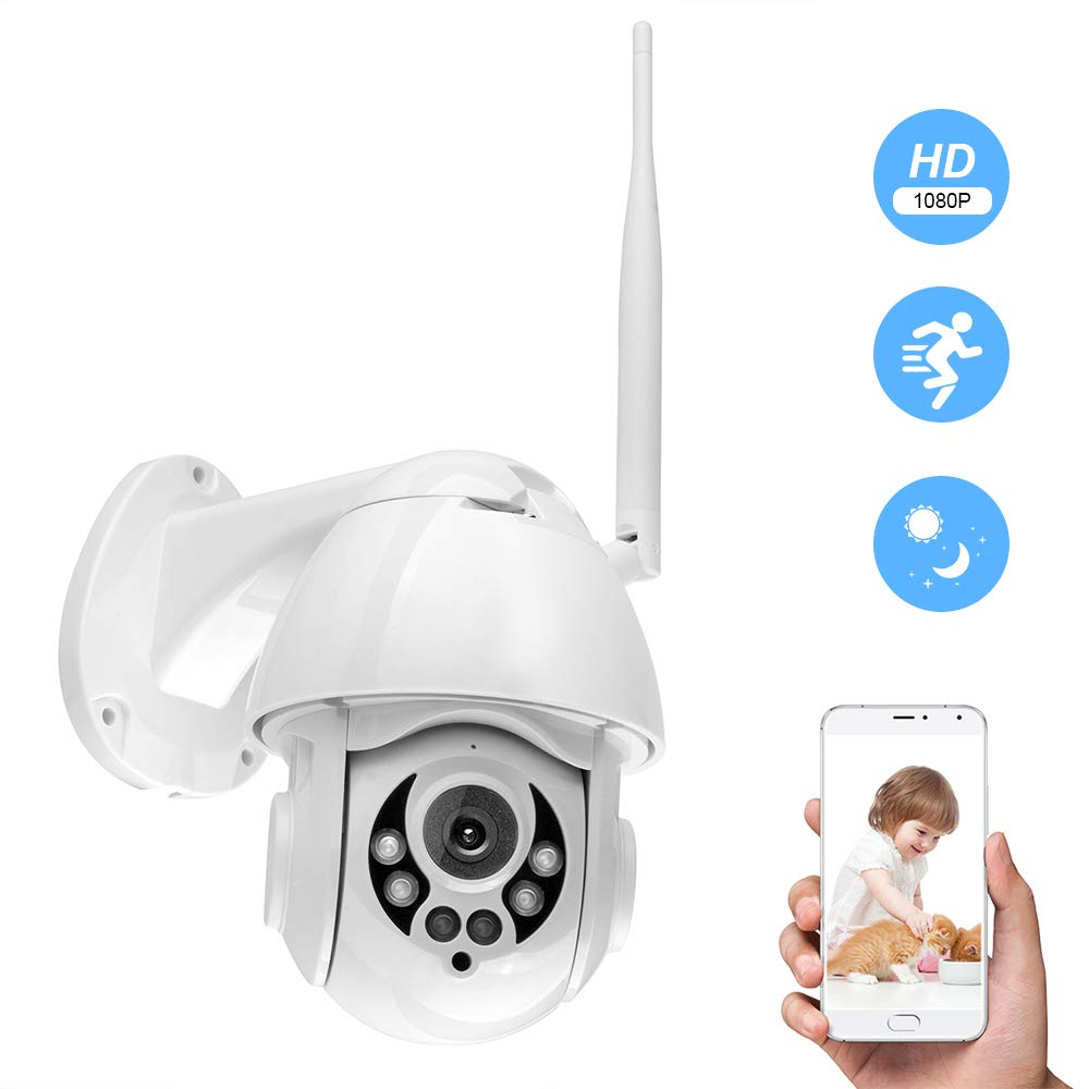 OWSOO K38D WiFi Camera PTZ Camera1080P IP Camera Face Detect Auto Tracking 4X Zoom Two-Way Audio Waterproof Camera Outdoor Camera Security Camera