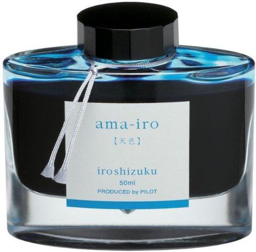 PILOT Iroshizuku Bottled Fountain Pen Ink, Ama-Iro, (Light Blue) 50ml Bottle (69226)
