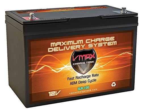 VMAX SLR100 12V 100ah Solar Battery for Camping RV Panels