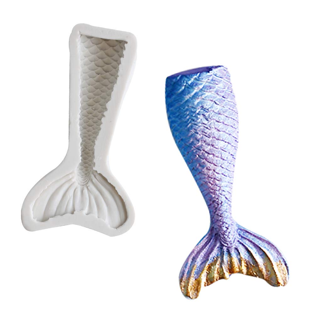 3D Mermaid Tail Silicone Mold Bake Cake Decorating Mold (STYLE FIVE)