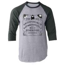 Pop Threads Ouija Board Seance Spirit Board Design Costume Raglan Baseball Tee Shirt