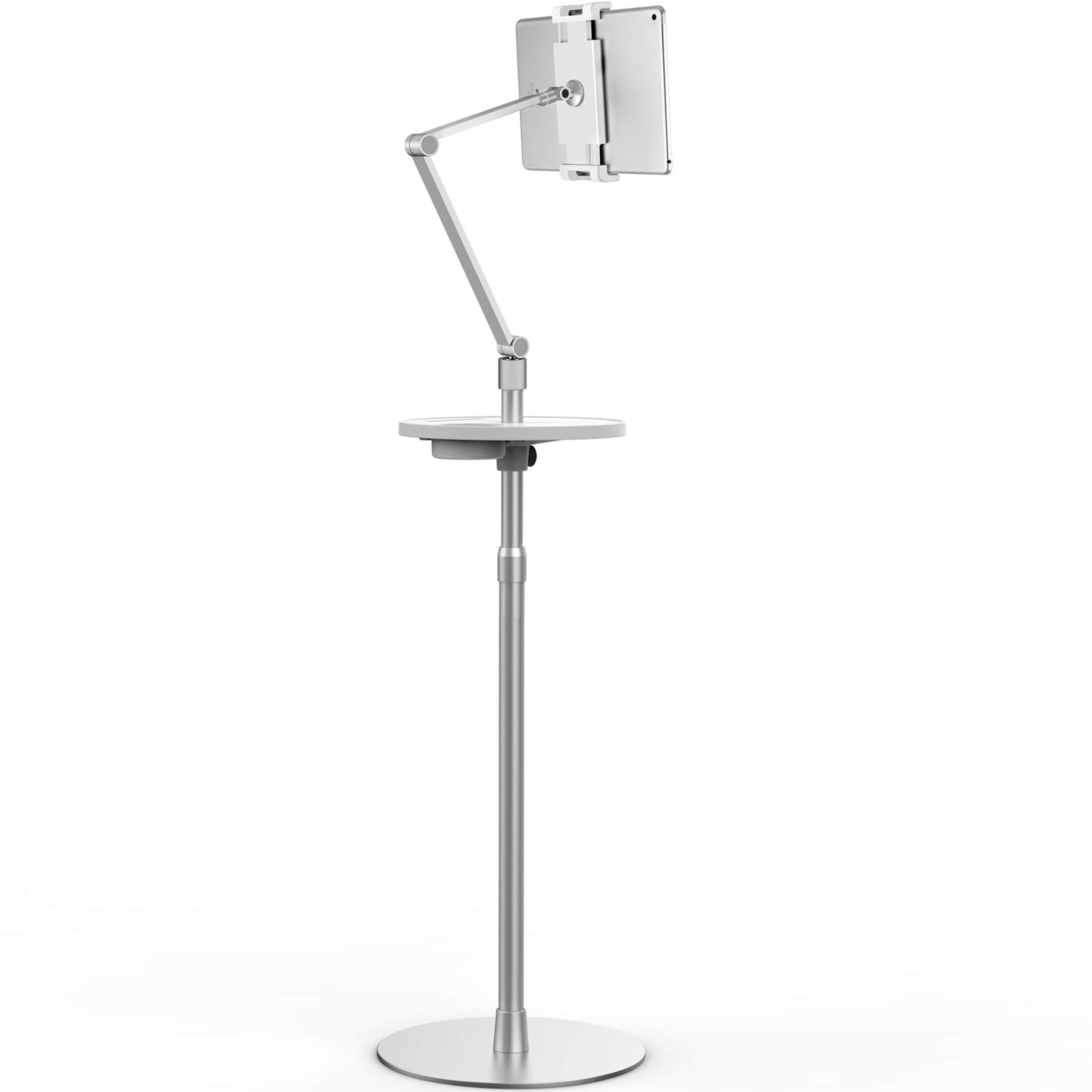 Viozon Tablet Floor Stand, Holder for iPad,Applicable to3.5~6inch Smart Phone and 7~10 inch Tablet Such as iPad, iPhone X, iPad Pro,iPad Mini, iPad Air 1-2 / iPad 2-4 (Silver)