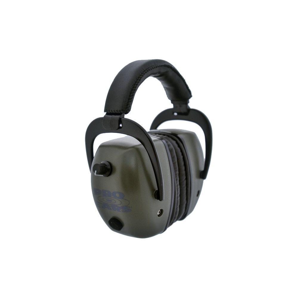Pro Ears - Pro Tac Mag Gold - Military Grade Electronic Hearing Protection and Amplification - NRR 30 - Range Ear Muffs - Lithium 123a Batteries