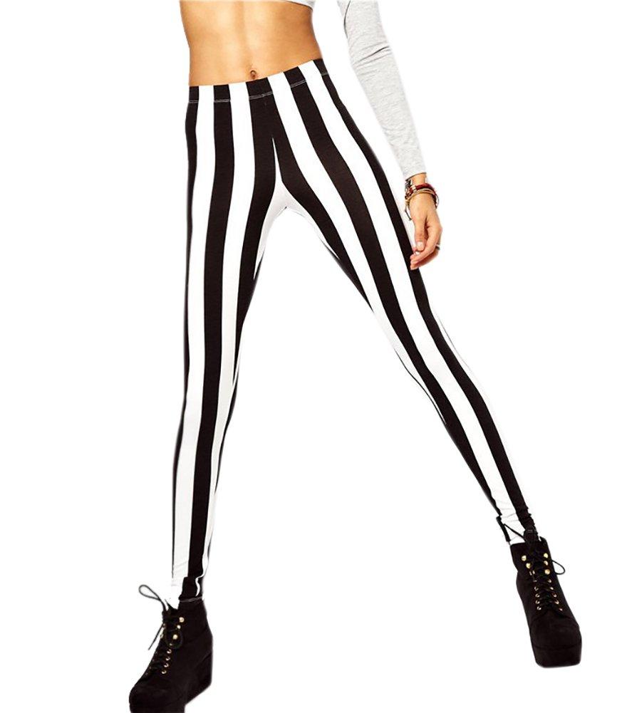 Women's Leggings Striped Patterns Stretchy Leggings