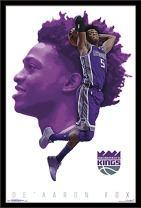 "Trends International NBA Sacramento Kings - De'Aaron Fox Wall Poster, 22.375"" x 34"", Black Framed Version"