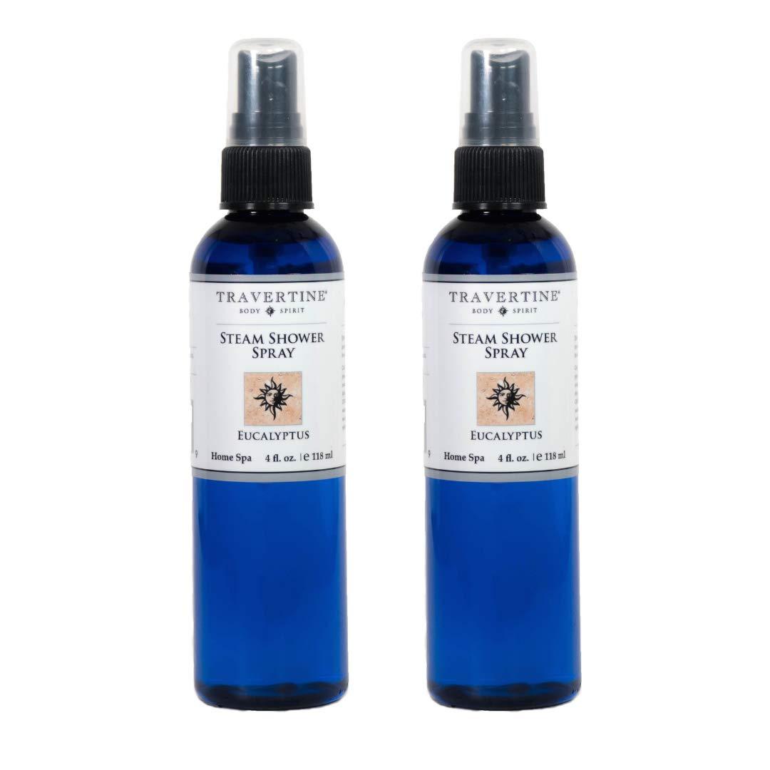Travertine Spa, Steam Shower Spray, 4oz (2 Pack)