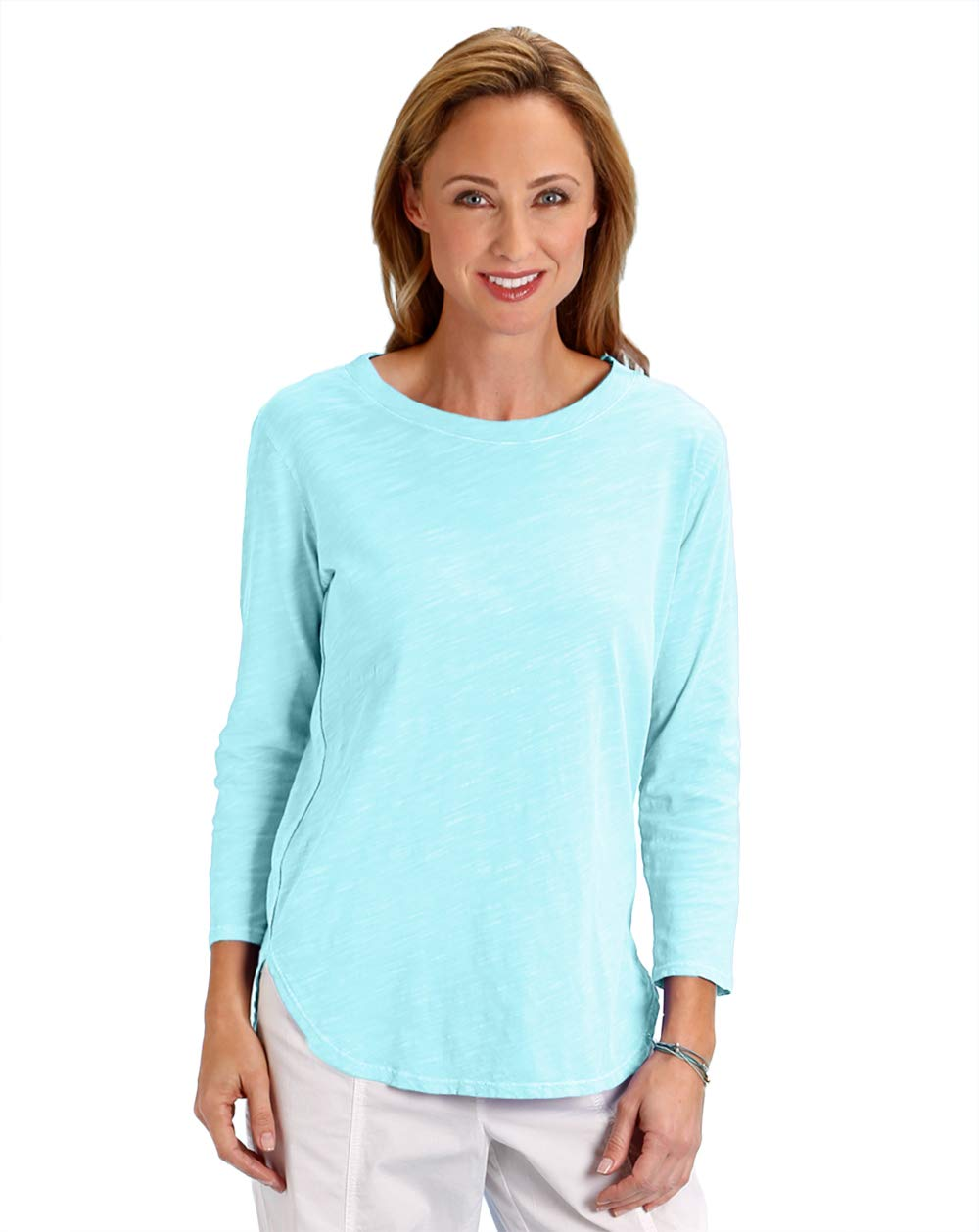 Fresh Produce Womens Comfortable Casual Summer Beach Scoop Neck Cotton Catalina Shirt