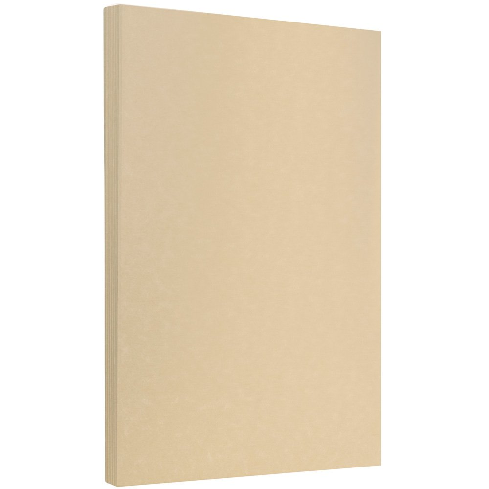 JAM PAPER Legal Parchment 24lb Paper - 8.5 x 14 - Brown Recycled - 100 Sheets/Pack