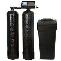 DuraWater 48k-56sxt-10-1 9100sxt Fleck 9100 SXT Twin Metered On-Demand 48,000 Grains Per Tank Softener 24/7 Soft Water, black