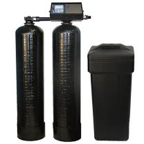 DuraWater 48k-56sxt-10-1 9100sxt Fleck 9100 SXT Twin Metered On-Demand 48,000 Grains Per Tank Softener 24/7 Soft Water, black