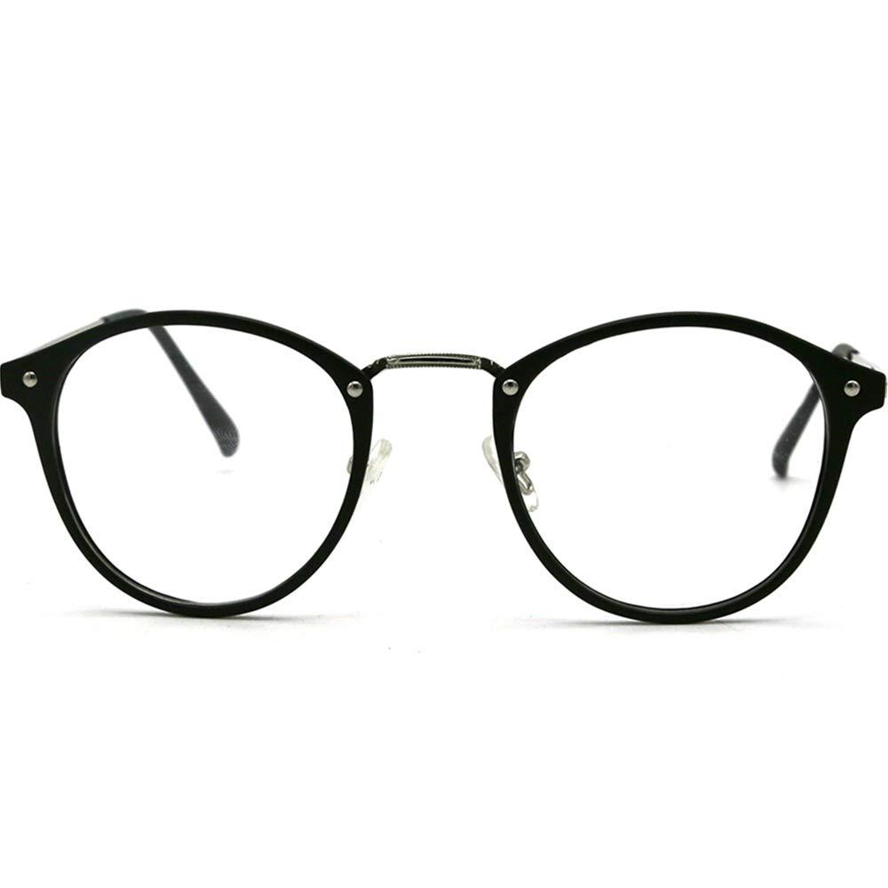 LR Round Retro Blue Light Blocking Glasses Eyeglasses Frame,Anti Blue Ray Computer Game Glasses for Men Women 881