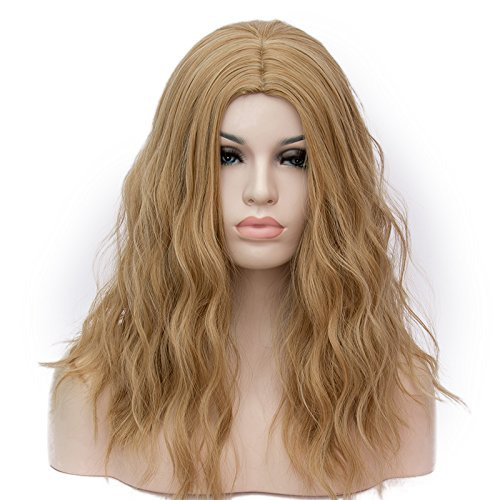 Max Beauty NE-Sexy Curly Wave Long 45CM Mermaid Wigs for Cosplay Synthetic Wigs for Women Natural As Real Hair (Gold Brown)