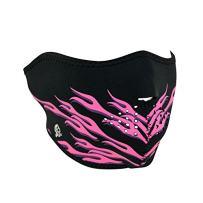 Zanheadgear Neoprene Half Face Mask, Pink Flames