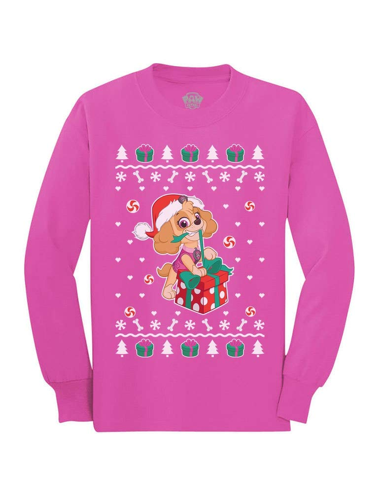 Paw Patrol Ugly Christmas Skye Santa Toddler/Kids Long Sleeve T-Shirt
