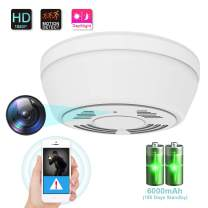1080P Hidden Camera Smoke Detector, WiFi Camera with 180 Days Battery Power, Motion Activated Security Camera with Night Vision, Nanny Camera for Home Security(Video Only)