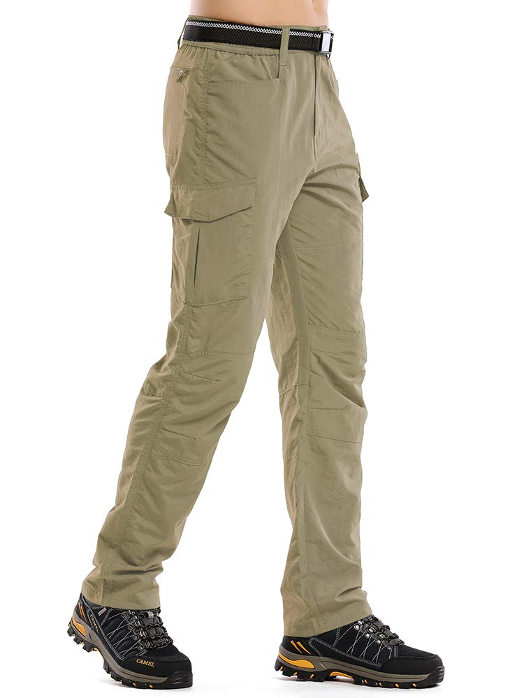 Jessie Kidden Hiking Pants Mens, Outdoor UPF 50+ Quick Dry Lightweight Safari Fishing Cargo Pants