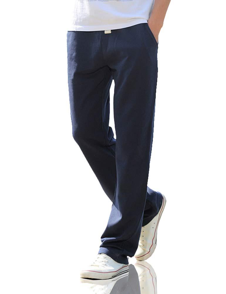 XIXVON Men's Classic French Terry Jogger Sweatpant Black